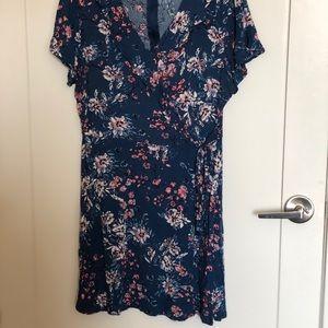 Floral Faux-Wrap Dresses
